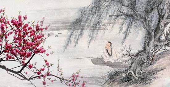 渔父,渔父,江上微风细雨。青蓑黄箬裳衣,红酒白鱼暮归。归暮,归暮,长笛一声何处。