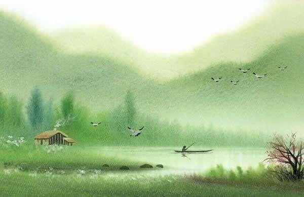 细草愁烟,幽花怯露。凭阑总是销魂处。日高深院静无人,时时海燕双飞去。