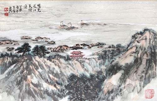 绕水恣行游。上尽层城更上楼。往事悠悠君莫问,回头。槛外长江空自流。