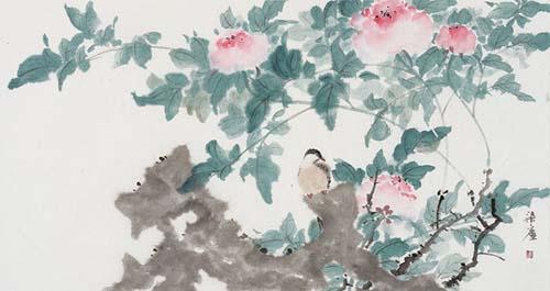 秋千院落重帘暮。彩笔闲来题绣户。墙头丹杏雨余花,门外绿杨风后絮。