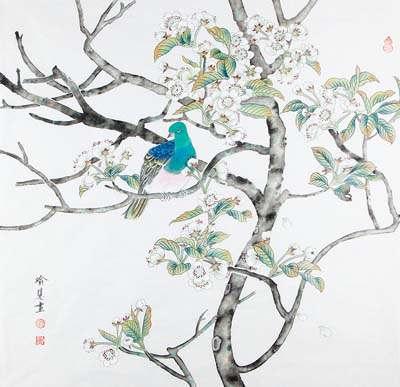 枝上流莺和泪闻,新啼痕间旧啼痕。一春鱼鸟无消息,千里关山劳梦魂。