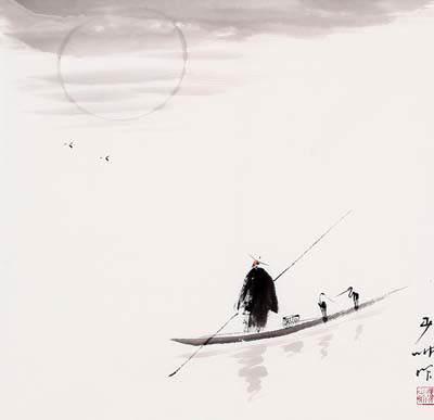 城里钟·菩萨蛮-贺铸<小泊画桥东。孤舟月满篷>