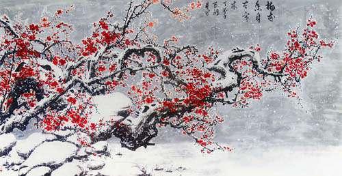 中庭多杂树,偏为梅咨嗟。问君何独然?念其霜中能作花,露中能作实。