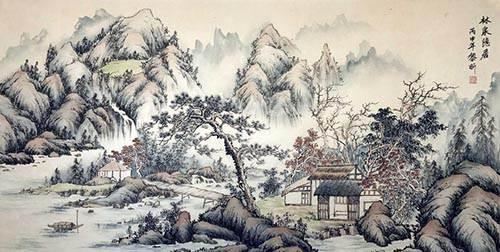 林泉隐居谁到此?有客清风至。会作山中相,不管人间事。争甚么半张名和纸!