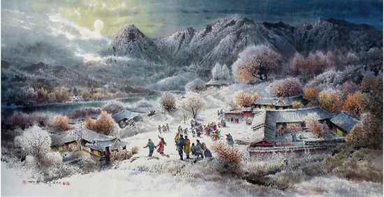 现代描写雪的诗句摘录